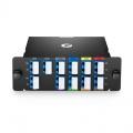 Multiplexor Demultiplexor CWDM Mux Demux de fibra dual con 8 canales LC/UPC 1470-1610nm, con puerto de monitor, puerto de expansión, FHD módulo plug-in