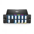 Multiplexor Demultiplexor CWDM Mux Demux de fibra dual con 8 canales LC/UPC 1270-1450nm  (excepto 1390, 1410nm), con puerto de monitor, puerto de expansión, FHD módulo plug-in