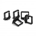 1.59'' Detachable Plastic D-Ring for Horizontal Cable Manager,  5pcs/pack