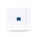 Single Port Fibre Optic Wall Plate Outlet, LC Duplex UPC OS2 Single Mode, Straight