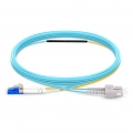 Customized OM4 Mode Conditioning PVC (OFNR) Fiber Optic Patch Cable