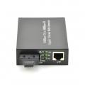 Stand-alone Unmanaged Gigabit Ethernet Media Converter, 1x 10/100/1000Base-T RJ45 to 1x 1000Base-X SC, Dual Fibre, 1310nm 20km