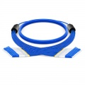 Customized 12 Fibers OS2 Single Mode LC/SC/FC/ST Armored Indoor 3.0mm Multi-Fiber Breakout Cable