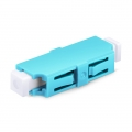 LC/UPC to LC/UPC 10G Simplex Multimode OM3 Plastic Fiber Optic Adapter/Mating Sleeve without Flange, Aqua