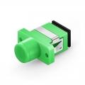FC/APC to SC/APC Hybrid Simplex Single Mode Plastic Fiber Optic Adapter/Coupler, Female to Female