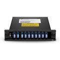 Solución híbrida CWDM/DWDM, 8 canales C53-C60, con puerto de expansión, LC/UPC, DWDM Mux Demux fibra dual, módulo de enchufe FMU