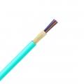 12 fibras multimodo 50/125 OM4, Riser, Cable GJFJV para distribución interior con tubo apretado ajustada sin unificada