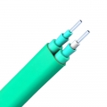Duplex Multimode 50/125 OM3, LSZH, Double Jacket Flat Indoor Tight-Buffered Interconnect Fibre Optical Cable