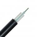 FTTH Drop Außenkabel, 12 Fasern Singlemode 9/125 OS2, FRP Verstärkungselement, Zentrale Bündelader, LSZH