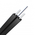 1 Fiber Singlemode 9/125 OS2, FRP Strength Member, LSZH Butterfly Flat Indoor FTTH Drop Cable GJXFH