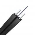 2 Fibers Singlemode 9/125 OS2, KFRP Strength Member, LSZH Butterfly Flat Indoor FTTH Drop Cable GJXFH