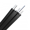 2 Fibers Singlemode 9/125 OS2, FRP Strength Member, LSZH Self-supporting FTTH Drop Cable GJYXFCH