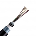 12 Fibres Single Mode  9/125 OS2, Double-Armoured Double-Jacket, Flame-retardant, Stranded Loose Tube, FRP Strength Member, Waterproof Outdoor Cable GYFTZA53