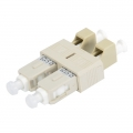 LC/UPC Female to SC/UPC Male Duplex OM1 Multimode Plastic Fibre Optic Adapter