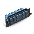 Panneau d'Adaptateur à Fibre Optique FHD, 12 Fibres OS2 Monomode et 6 Ports Adaptateurs SC UPC Duplex (Bleu) , Manchon en Céramique