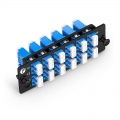 FHD Fiber Adapter Panel, 24 Fibers OS2 Single Mode, 12x LC UPC Duplex (Blue) Adapter, Ceramic Sleeve