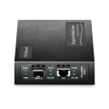 Managed 10 Gigabit Ethernet Media Converter, 1x 10GBASE-T RJ45 to 1x 10GBASE-X SFP+ Slot, AC 100V~240V