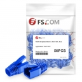 Cat7 STP RJ45 Snagless Boot Covers for Stranded Cable  - Blue, 50/Pack