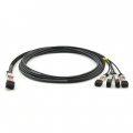 1m (3ft) Dell (DE) Networking 462-3639互換 40G QSFP+/4x10G SFP+パッシブダイレクトアタッチ銅製ブレイクアウトケーブル(DAC)