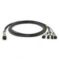 1m (3ft) H3C LSWM1QSTK3 Compatible 40G QSFP+ to 4x10G SFP+ Passive Direct Attach Copper Breakout Cable