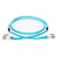 Customised 24 Fibres LC/SC/FC/ST OM3 Multimode Indoor Pre-terminated Breakout Cable