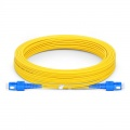 15m (49ft) SC UPC to SC UPC Duplex OS2 Single Mode PVC (OFNR) 2.0mm Fiber Optic Patch Cable