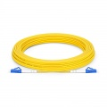 15m (49ft) LC UPC to LC UPC Simplex OS2 Single Mode PVC (OFNR) 2.0mm Fiber Optic Patch Cable