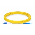 5m (16ft) LC UPC to SC UPC Simplex OS2 Single Mode PVC (OFNR) 2.0mm Fiber Optic Patch Cable
