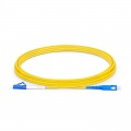 3m (10ft) LC UPC to SC UPC Simplex OS2 Single Mode PVC (OFNR) 2.0mm Fiber Optic Patch Cable