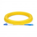 15m (49ft) LC UPC to SC UPC Simplex OS2 Single Mode PVC (OFNR) 2.0mm Fiber Optic Patch Cable