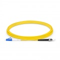 3m (10ft) LC UPC to ST UPC Simplex OS2 Single Mode PVC (OFNR) 2.0mm Fiber Optic Patch Cable