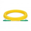 15m (49ft) LC APC to LC APC Simplex OS2 Single Mode PVC (OFNR) 2.0mm Fiber Optic Patch Cable