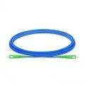 3m (10ft) SC APC to SC APC Simplex OS2 Single Mode Armored PVC (OFNR) 3.0mm Fiber Optic Patch Cable