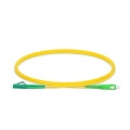 1m (3ft) LC APC to SC APC Simplex OS2 Single Mode PVC (OFNR) 2.0mm Fiber Optic Patch Cable