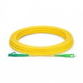 15m (49ft) LC APC to SC APC Simplex OS2 Single Mode PVC (OFNR) 2.0mm Fiber Optic Patch Cable