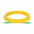 15m (49ft) SC APC to SC APC Simplex OS2 Single Mode PVC (OFNR) 2.0mm Fibre Optic Patch Lead