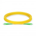 5m (16ft) SC APC to SC APC Simplex OS2 Single Mode PVC (OFNR) 2.0mm Fiber Optic Patch Cable