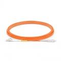 LWL-Patchkabel, 5m (16ft) LC UPC auf SC UPC Simplex OM1 Multimode PVC (OFNR) 2.0mm