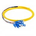 SC UPC Single Mode Fibre Optic Pigtail Bunch (12 Fibres), PVC Jacket, 1.5m (5ft)