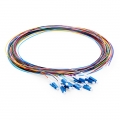 LC UPC Single Mode Fibre Optic Pigtail Set (12 Fibres),  Unjacketed, 1m (3ft)