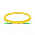 3m (10ft) SC APC to SC APC Simplex OS2 Single Mode LSZH 2.0mm Fiber Optic Patch Cable