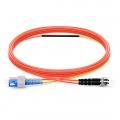 1m(3ft) SC-ST OM2 モード調整可能な光パッチケーブル
