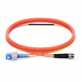 2m (7ft) SC to ST OM2 Mode Conditioning PVC (OFNR) Fiber Optic Patch Cable