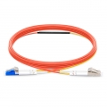 2m (7ft) LC to LC OM1 Mode Conditioning PVC (OFNR) Fiber Optic Patch Cable
