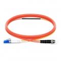 2m(7ft) LC-ST OM1 モード調整可能な光パッチケーブル