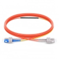 2m (7ft) SC to SC OM1 Mode Conditioning PVC (OFNR) Fiber Optic Patch Cable