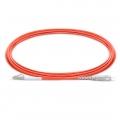 LWL-Patchkabel, 3m (10ft) LC UPC auf SC UPC Simplex Stecker, OM1 Multimode PVC (OFNR) 2,0mm