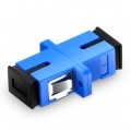 SC/UPC to SC/UPC Simplex Single Mode Plastic Fibre Optic Adapter/Coupler with Flange