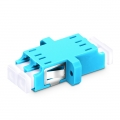LC/UPC to LC/UPC 10G Duplex OM3 Multimode SC Footprint Plastic Fibre Optic Adapter/Mating Sleeve with Flange, Aqua