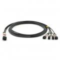 1m (3ft) HW DAC-Q28-S28-1M Compatible Câble Breakout à Attache Directe en Cuivre Passif QSFP28 100G vers 4x SFP28 25G